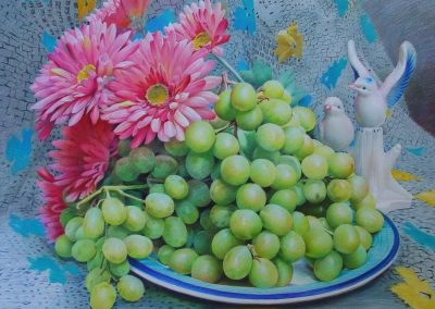 """Grapes and Flowers"""